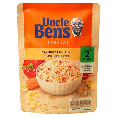 UNCLE BEN'S spécial savoureux poulet parfumé riz 250g (pack de 6 x 250g)