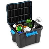 El buceo Buceador de buceo caja de plástico caja almacenaje negro Loft de–45litros–Ideal para bodega de almacenamiento de garaje. Tamaño mediano, negro, Medium