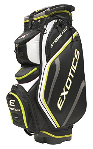 Tour Edge Exotics Extreme Pro Deluxe Cart Bag (Men's, Exotics Extreme Pro Deluxe Cart Bag Black/White/Electric Green) () -