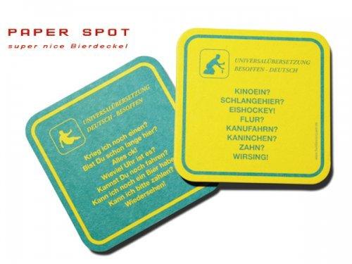 Glasuntersetzer Bierdeckel 30 Stück Deutsch Besoffen