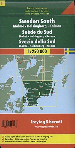 Schweden Süd - Malmö - Helsingborg - Kalmar, Autokarte 1:250.000, Blatt 1, freytag & berndt Auto + Freizeitkarten: Alle Infos bei Amazon