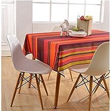 Asvert Manteles de Mesa Antimanchas 130 x 180cm Resistente a Líquidos de Estilo Moderno para Mesa Rectangular de Comedor Cocina Jardín y Bar
