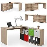 Eckschreibtisch 137 x 75 cm Eiche Sonoma - Schreibtisch Arbeitstisch Winkelschreibtisch Bürotisch Winkelkombination