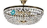 Lustre Plafonnier avec SPECTRA Cristal de SWAROVSKI Ø50cm 8 Lumières, doré