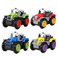 Children Dump Truck Simulation 4 Wheels Drive Jeep Electric Stunt Toy Car