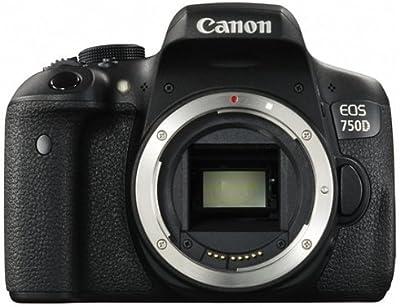 Canon EOS 750D Body - Cámara digital (24,2 MP, MILC Body, CMOS, TTL-CT-SIR, 100, 6400, 12800, Auto, Manual) Negro (importado)
