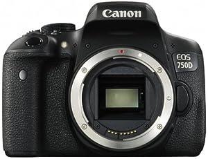 Canon EOS 750D SLR-Digitalkamera (24 Megapixel, 7,7 cm (3,0 Zoll) Display, Full-HD, APS-C CMOS-Sensor, WiFi, NFC) schwarz