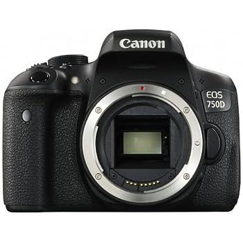 Canon EOS 750D Fotocamera Reflex Digitale da 24 Megapixel, Nero/Antracite