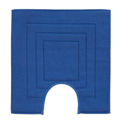Vossen 1100530479 Feeling - Toilettenvorleger mit Ausschnitt, 59 x 59 cm, reflex blue