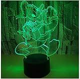 Nette Acryl 3D Led Donald Duck Illusion Nachtlicht 7 Farbe Veränderbar Usb Batterie Wohnkultur Touch Lichter Geschenk für Kinder