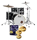 Pearl Export EXX725S Drum Kit Jet Black & Zildjian Planet Z Cymbals