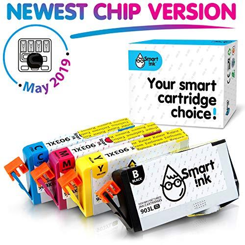 Smart Ink Cartouches d'Encre Compatibles Alternative pour HP 903 XL 903XL High Yield 4 Pack (Black & C/M/Y) pour Officejet 6950 Officejet Pro 6960 6970