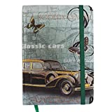 "Tootpado Classic Cars Journals and Diaries 100 pages - Diary, Notebook (5""x7"" Inches)"