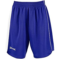 Spalding 3005411 - Pantalones cortos de baloncesto para mujer, color (- Bleu Roi/Blanc), talla M