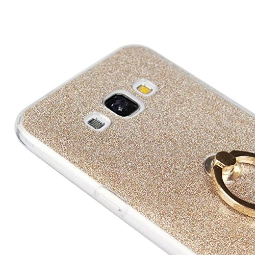 Luxus Bling Sparkle Style Case, Soft TPU [Silikon] Flexible Glitter Back Cover mit Fingerring Stand [Anti Scratch] [Shockproof] für Samsung Galaxy A8 ( Color : White ) White
