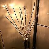 jgashf LED Willow Branch Lamp luci Decorative Floreali 20 Lampadine Casa Natale Festa di Nozze Garden Decor Willow Branch Light Bianco Caldo 30 pollici (Giallo)
