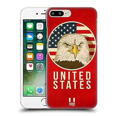 Head Case Designs États-Unis Animaux Patriotiques Étui Coque D'Arrière Rigide Pour Apple iPhone 7 Plus