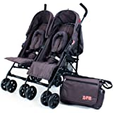 You & Me Baby Travel ZETA VOOOM Twin Double Stroller Changing Bag Apron Footmuffs -Hot Chocolate (Brown)