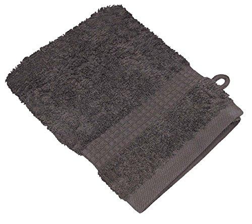 starlabels Serviettes Disponible en 15 couleurs et 5 dimensions doux saugstark 500 g/m², 100% coton, Coton, gris, 15 cm x 21 cm