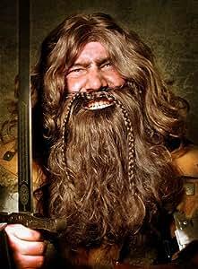 Déguisements Barbe nain perruque avec barbe Halloween