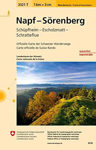 3321T Napf - Sörenberg Wanderkarte: Schüpfheim - Escholzmatt - Schratteflue (Wanderkarten 1:33 333)