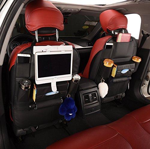 Auto-Indietro-sede-Organizzatore-2-pacchi-con-Pi-grandi-Protezione-Conservazione-7-vani-Compreso-iPad-Eco-Friendly-Materiali-grande-Viaggio-Accessorio