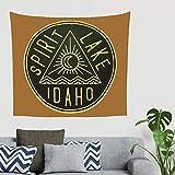 XHJQ88 Spirit Lake Design Tapisserie Bohemian universell Picknickmatte - Mythos Muster für Schlafzimmer
