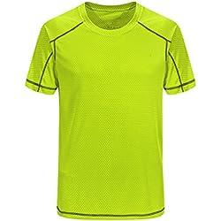 YiiJee Unisexo Deporte Kompressionsshirt Secado Rápido Camiseta de Compresión de Running Manga Corta como la Imagen4 M