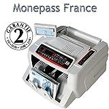 Compteuse de Billets Quadruple détection faux billets UV/MG/MT/IR avec Technologie 2D