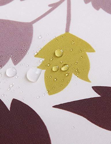 DEED Badezimmer Verdickung Dusche Vorhänge Liefert Polyester abgeschnitten Vorhang Ländliche Maple Leaf Vorhänge Partition Vorhang Dusche Tuch,180 * 180 cm -