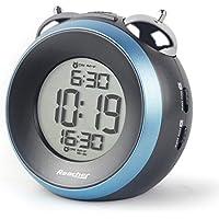 Reacher Loud Alarm Clock for Heavy Sleepers - Dual Alarm Clock with Optional Weekday Alarm, Snooze, Backlight, Battery Operated Twin Bell Alarm Clocks