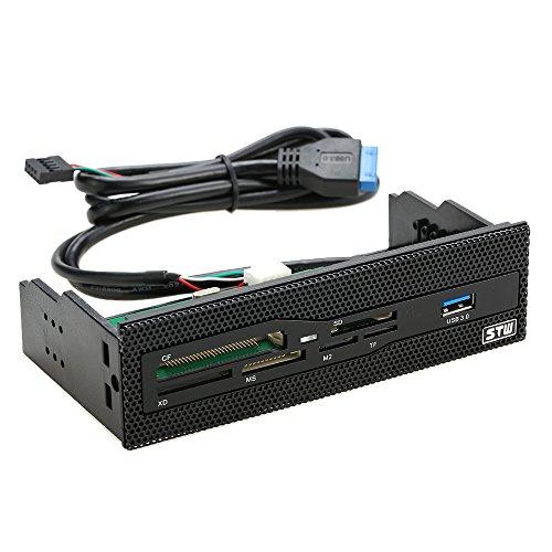 """KKmoon Sunshine-tipway STW 5.25 """"Interner Kartenleser Medien Multifunktions Dashboard PC Frontplatte USB 3.0 Unterstützung CF XD MS M2 TF"""