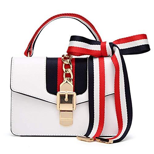DäMe Damenhandtaschen Mode Berühmte Marke Ranzen 2018 Tasche Fashion Handtasche Satinband Kleine Tasche Umhängetasche Umhängetasche Kette Tasche - Weiße