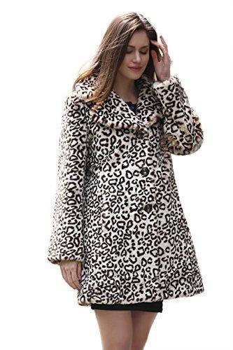 Elegante cappotto Vintage Adelaqueen per donna leopardo