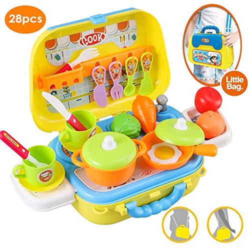 lenspiel Küche Spielzeug Koffer Lebensmittel Kochspielzeug Schultertasche für Kinder ()