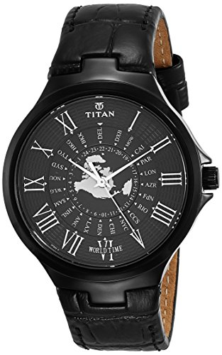 Titan 1706NL01 Men's Analog Watch - Black Dial