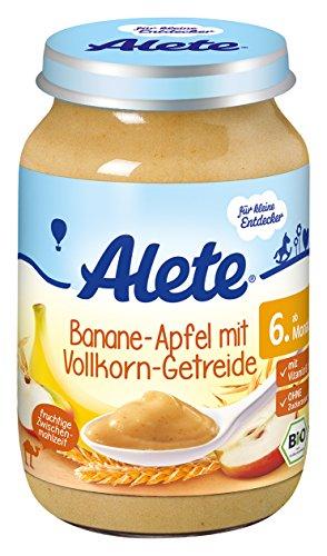 Alete Banane in Apfel mit Vollkorn-Getreide, 6er Pack (6 x 190 g)
