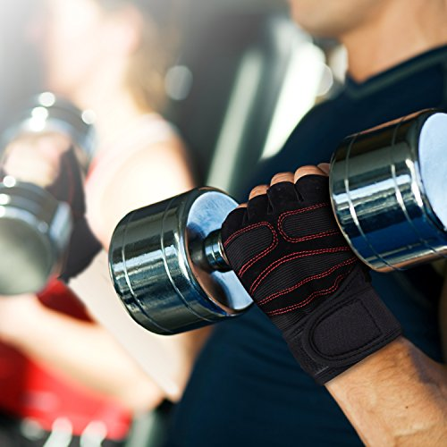 Weight-Lifting-Gloves-Chnano-Sport-Gloves-Fitness-Training-Gym-Gloves-for-Men-Women-Half-Finger-Skid-Resistance-Breathable-Biking-Bicycle-Gloves-for-Exercise-Outdoor-Sports-Riding-Racing-XL