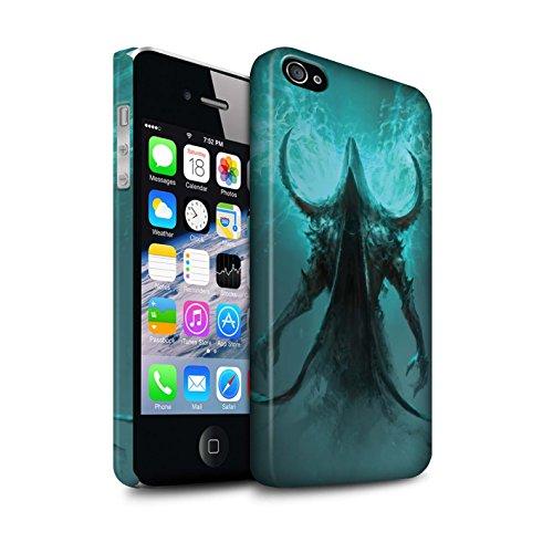 Offiziell Chris Cold Hülle / Matte Snap-On Case für Apple iPhone 4/4S / Pack 10pcs Muster / Dunkle Kunst Dämon Kollektion Getarnte Teufel