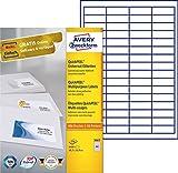 Avery Zweckform 3667 Universal-Etiketten (A4, Papier matt, 6,400 Etiketten, 48,5 x 16,9 mm) 100 Blatt weiß