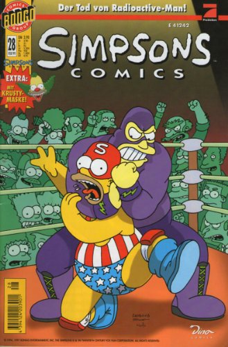(SIMPSONS Comics # 28 - Der Tod von Radioactive-Man! Comic inkl. KRUSTY MASKE (Simpsons))
