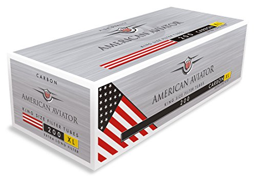 American Aviator Carbon XL Filterhülsen Aktivkohle Langfilter 10 Boxen (2000 Hülsen)