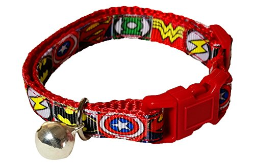 Spoilt Rotten Pets - ICONIC COMIC HERO'S Design Cat Collar. Safety Buckle, Designed & Made In The UK