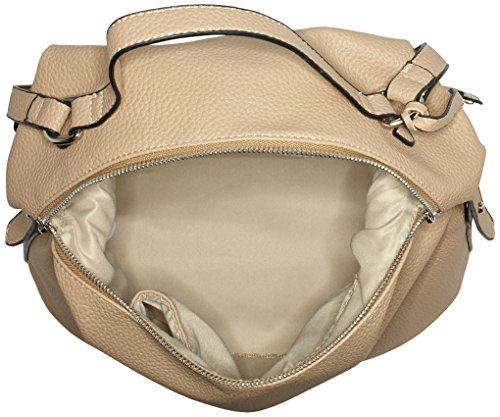 Buffalo Damen Bag S017-167a Leather Pu Schultertasche, 17x38x29 cm Beige (NUDE 01)
