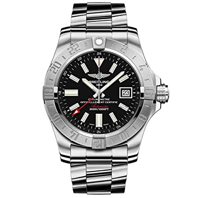 BREITLING Men's Avenger II GMT 43MM Steel CASE Automatic Watch A3239011-BC35