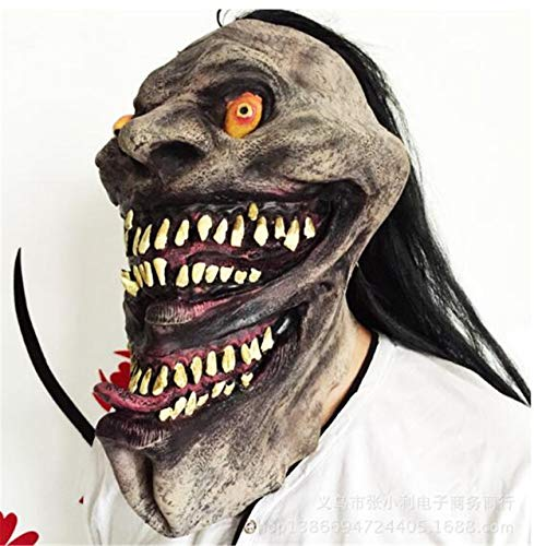 squerade Scary Crocodile-ähnliche Kopfbedeckung, Rollenspiel Cosplay Eco-Friendly Latex Decoration Facepiece ()