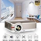 Projecteur vidéo LED Haute luminosité Projecteur de cinéma maison de 5000 lumens Intérieur Extérieur 1080p 720p 1280x800 Natif Dual HDMI USB pour TV Ordinateur portable PC Blu Ray DVD