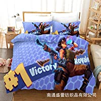 Vampsky Third Person Shooter Cyberpunk Fortnite Personality Teens Children's Bedding 3D Pattern Beautiful Bed (1* Bedspread 2* Pillowcase) Zipper Easy Care Print Microfiber Polyester