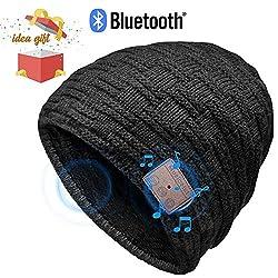 HANPURE Bluetooth Mütze Damen & Herren Geschenke, Bluetooth Mütze mit Bluetooth 5.0 Kopfhörern für Outdoor-Sport, Skifahren, Laufen, Skaten, Geburtstagsgeschenke für Frauen&Männer