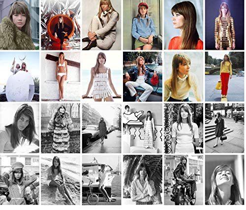 Carte Postale Set 24 cards FRANCOISE HARDY Posters Photos Vintage Magazine covers French Pop Music